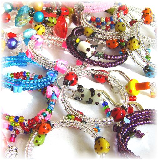 A selection of children's jewellery from Beadoir
